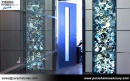 Blue Agate Backlit Wall Panel