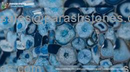 Blue agate slab, tiles & surface collection