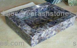 Amethyst sink in rectangular shape