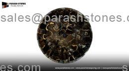 Black agate round basin