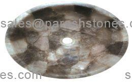 Smoky quartz wash basin round