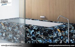 Blue Agate Bathtub Surround