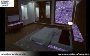 Amethyst Bedroom Backsplash