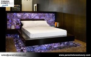 Amethyst Bed Decor