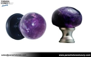 Amethyst Knobs