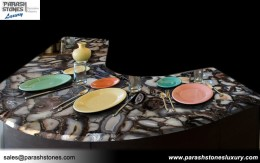 Black Agate Kitchen Countertop