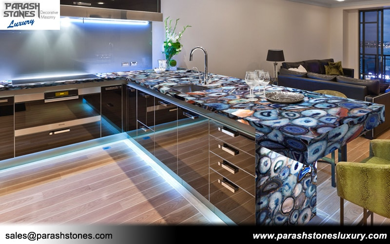 Blue Agate Kitchen Top