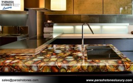 Carnelian Kitchen Top