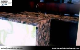 Grey Agate Bathroom Countertop