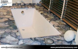 Grey Agate Bathtub Surround