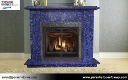Lapis Lazuli Fireplace Surround
