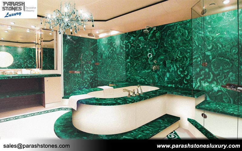 Malachite green tiles amp slabs parash stones luxury