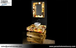 Mix Multicolor Agate Bathroom Vanity