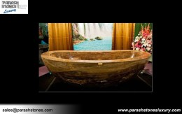 Petrified Wood Bathtub