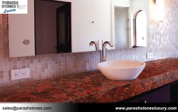 Red Jasper Bathroom Countertop