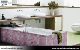 Rose Quartz Bathtub Surround
