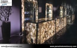 Smoky Quartz Bar Countertop