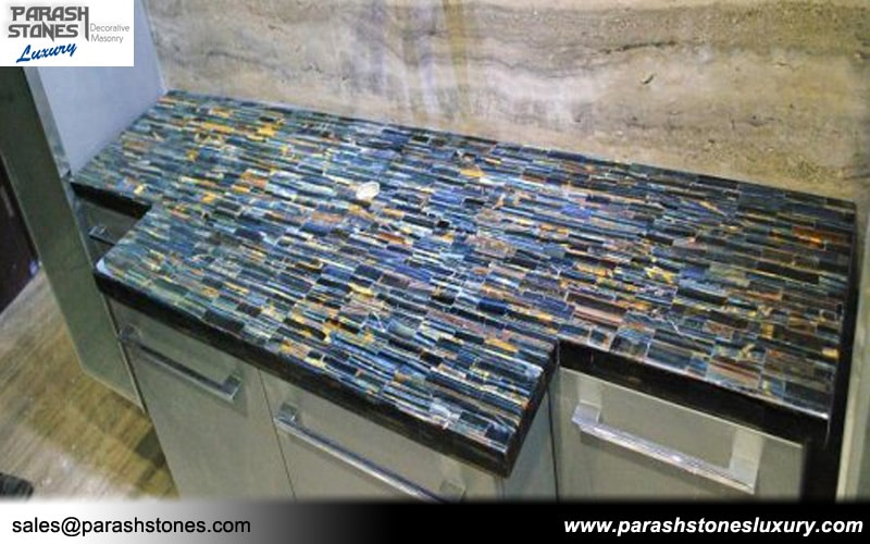 Semi precious stone slab furniture wholesale price precious counter