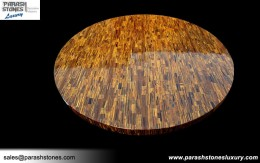 Tiger Eye Round Table