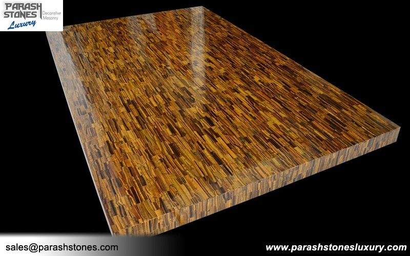 Tiger Eye Tiles Amp Slabs Blue Golden