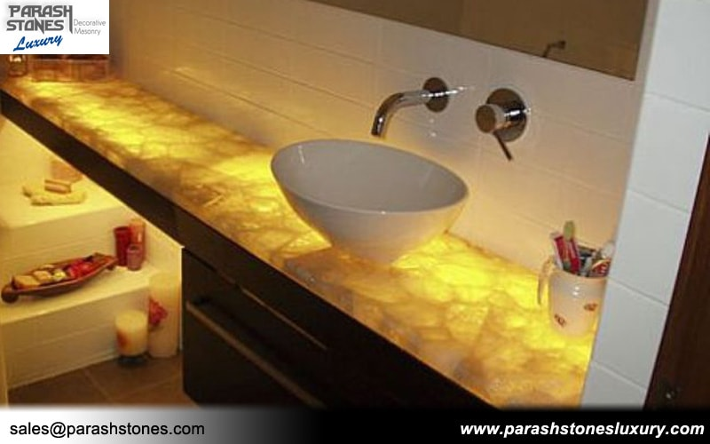 White Quartz Bathroom Counter