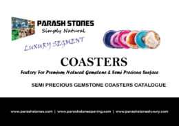 price list & catalogue for semi precious gemstone coasters
