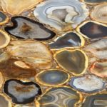 picture of brown golden agate slab, tiles & surface