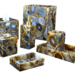yellow agate bath accessories