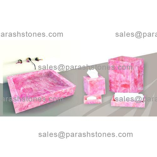 Pink Quartz Bath Accessories