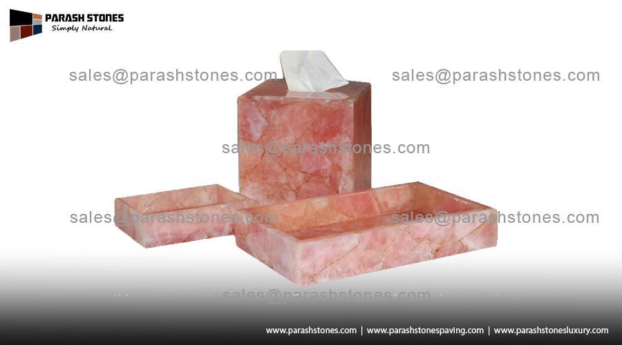 Rose Quartz Bath Accessories
