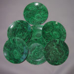 Malachite coasters