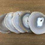 Grey agate coasters