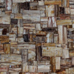 picture of retro brown petrified wood slab, tiles & surface