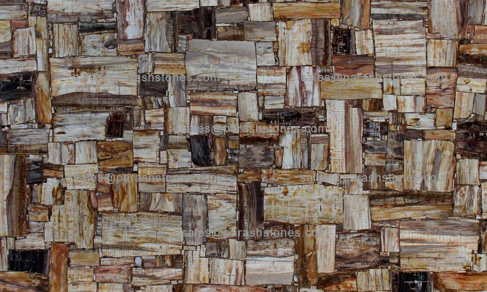 Picture Of Retro Brown Petrified Wood Slab, Tiles U0026 Surface