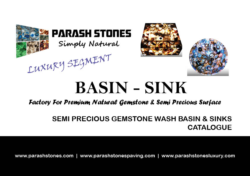 Semi precious gemstone wash basin & sink sale price list catalogue