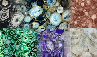 Agate slab & surface collection