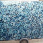 Blue agate slab large size 7
