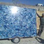 Blue agate slab large size 5