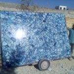 Blue agate slab large size 1