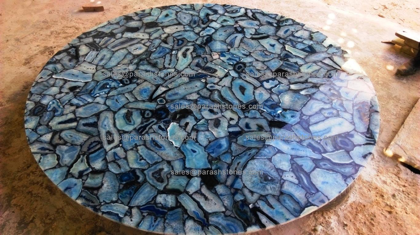 Blue Agate Round Centre Table Countertop Amp Work Top For A