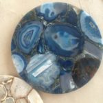 blue agate round top