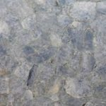 picture of blue calcite slab, tiles & surface