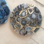 golden blue agate top