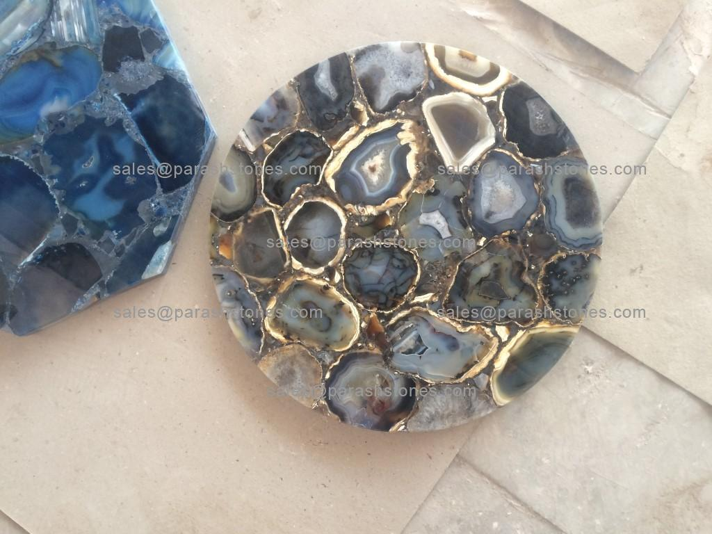 Golden Blue Agate Top