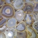 picture of grey agate with golden edges texture