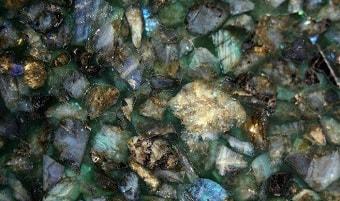 Labradorite slab & surface collection