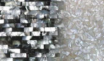 Mother of pearl slab & surface collection