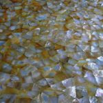 picture of mother of pearl slab, tiles & surface in random design