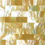 picture of mother of pearl yellow slab, tiles & surface in brick design