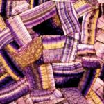 picture of purple fluorite slab, tiles & surface